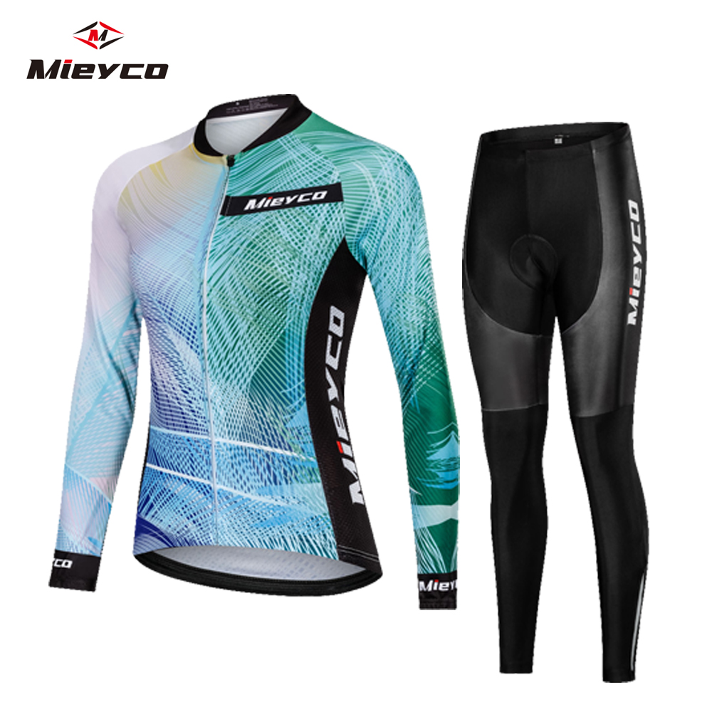 Women Cycling Jersey Mtb Bicycle Clothes Long Sleeves Road Bike Clothing Riding Shirt Team Jersey Custom Design Female Ciclismo