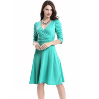 New Women S European And American Pencil Skirt Deep V Neck Large Dress 20 Colors Optional