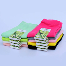 10pairs=1 lot High quality bamboo casual fashion women socks solid colors hot sale female Free Shipping MF5614546