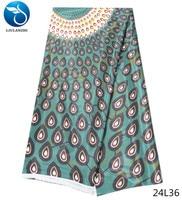 LIULANZHI african satin fabric wax print satin dress fabric fashion type 5yards/lot nigeria mens fabric 2018 latest 24L20 43