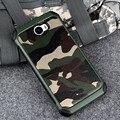 Padrão de Camuflagem do exército do Camo Tampa Traseira PC e TPU Armadura Anti-batida de Proteção caixa do telefone para huawei y5 2/y5 ii/y5ii 5.0 polegada