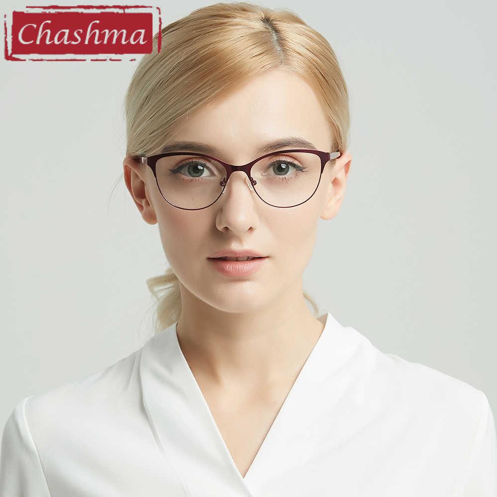 e3be03742c ... Chashma 2018 New Cat Eyes Style Glasses Women Top Quality Female  Optical Glasses Frames Eyewear Fashion ...