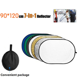 Tycipy 90*120CM  7 in 1 Reflector Portable Photo Light Collapsible Oval Diffuser Reflector Light Photography Reflector Studio