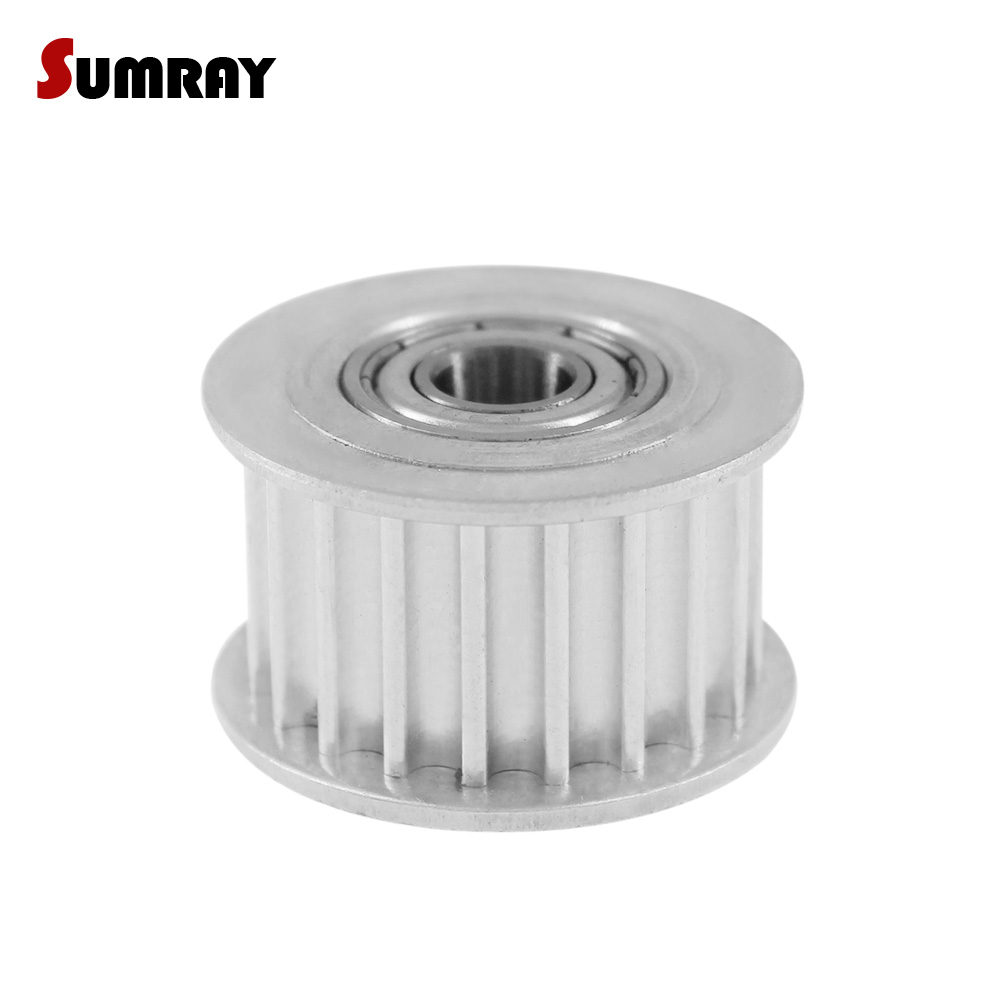 SUMRAY 5M 20T With Teeth Tooth Belt Idler Pulley Bore 5/6/8/10/12/15mm Passive Pulley wheel Width 16/21mm Idler Timing Pulley цены онлайн