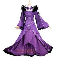 Fate Grand заказ косплей Scathach Косплей Костюм волшебное платье Синий Фиолетовый одежда красота нарядное платье для девочки женщины Рождество