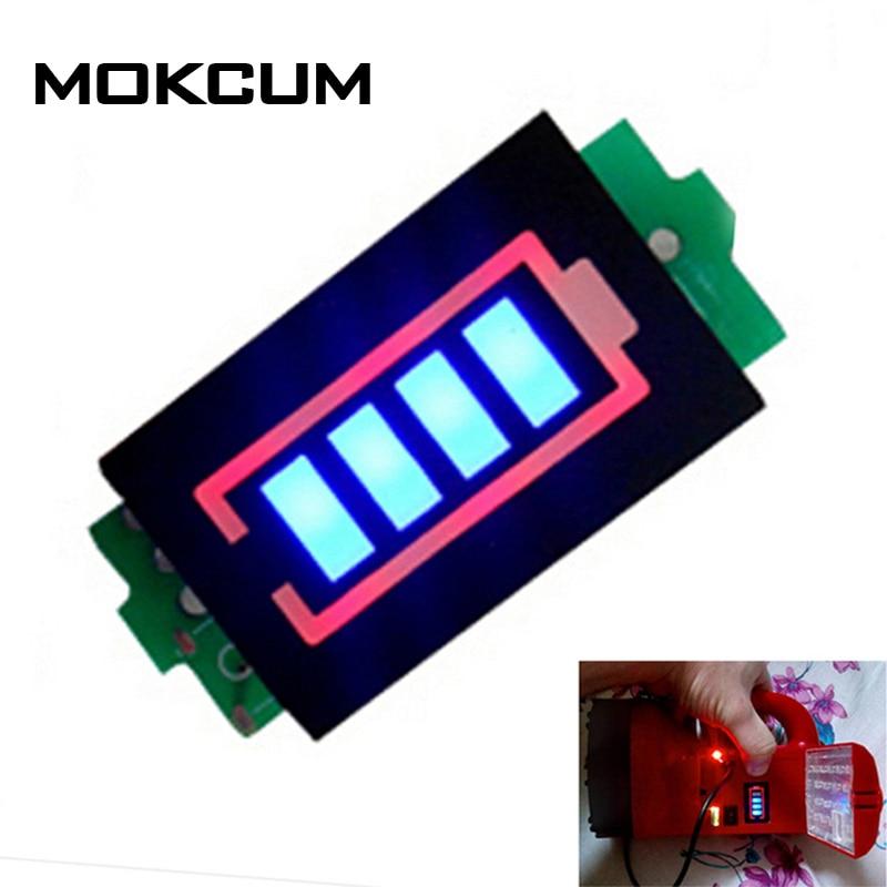 1S Single 3.7V Lithium Battery Capacity Indicator Module 4.2V Blue Display  Electric Vehicle Car Battery Power Tester Li p Li ion Battery Testers  -  AliExpress