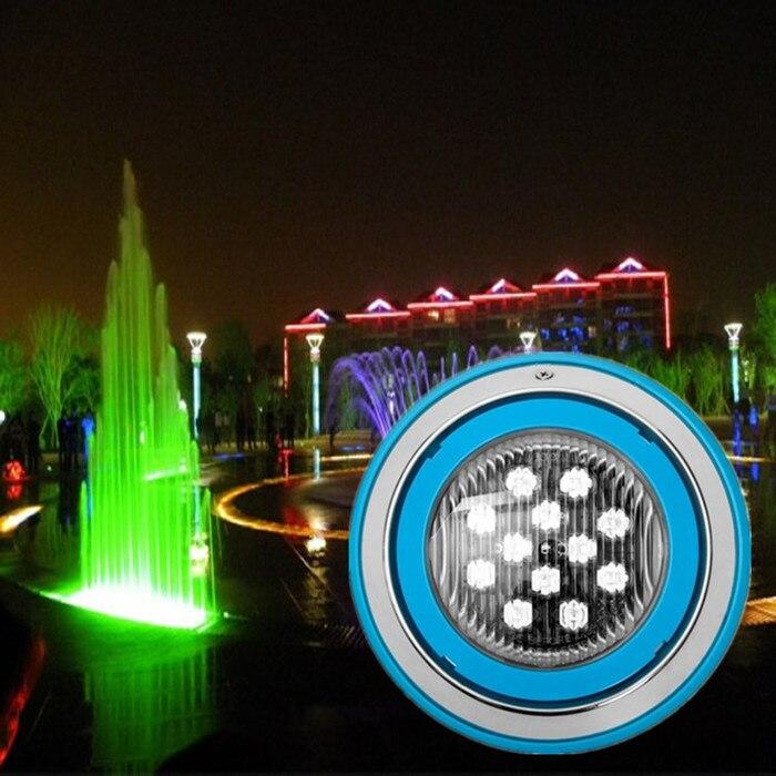 6 w 9 w 12 w 15 w 18 w LED piscine lumière IP68 AC12V LED éclairage extérieur RGB LED éclairage sous-marin étang jardin fontaine lumière