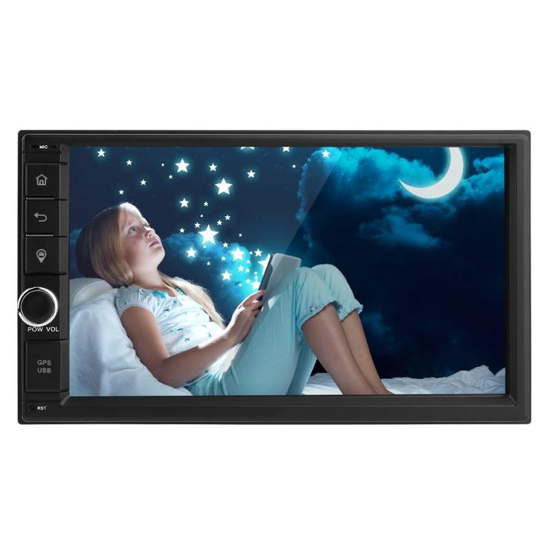 7in Touch Screen 1080P 2Din Auto Radio 4G WiFi ADAS A2DP Bluetooth Quad core Android 7.1 Car Stereo Radio Head Unit GPS