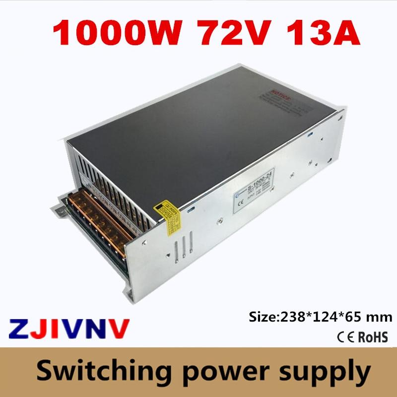 1000W Switching Power Supply 72V 13A AC-DC input 200V~240V or 100v~130VAC For LED Strip light cnc cctv  output 72vdc1000W Switching Power Supply 72V 13A AC-DC input 200V~240V or 100v~130VAC For LED Strip light cnc cctv  output 72vdc