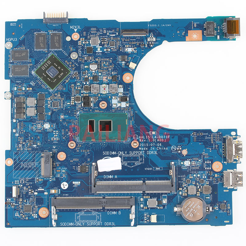 Laptop motherboard for DELL Inspiron 5759 5559 I7 6500U PC Laptop Mainboard CN 0F1J0W 0F1J0W AAL15