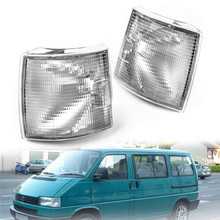 A Pair Replacement Clear Front Corner Lights Indicator For VW Transporter T4 BJ 90-04(White)