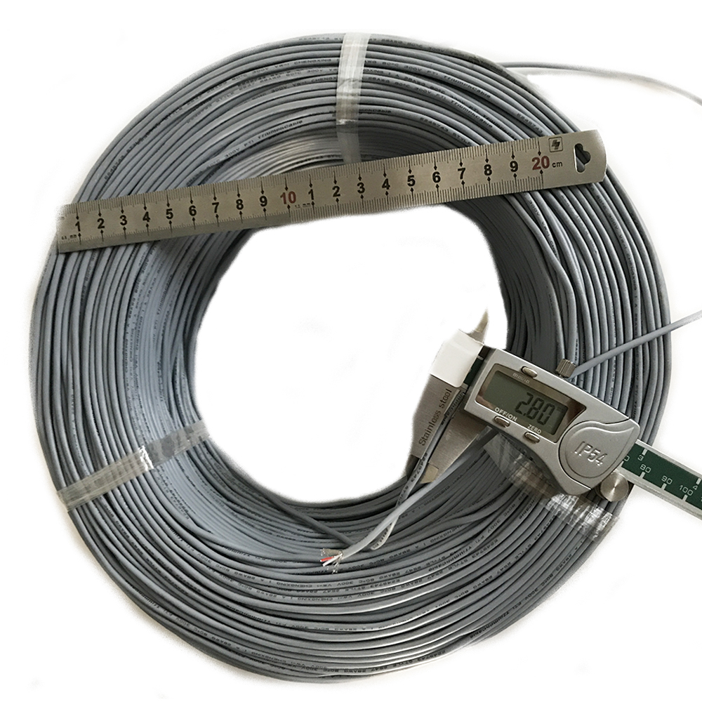 UL2547 2 CORE Shielded Cable 2 core 28AWG Shielded Signal Wire OD 2 8mm Grey Audio