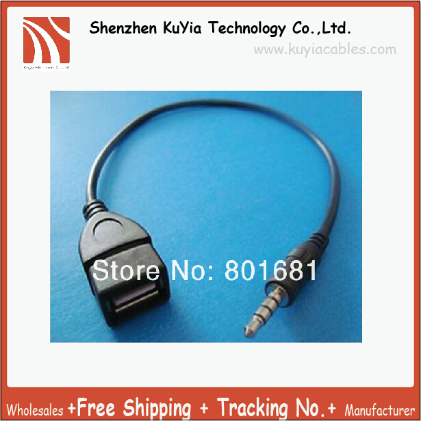 KUYiA hotselling 3.5mm to usb cable adapter audio aux Jack Male converter Charge Cable