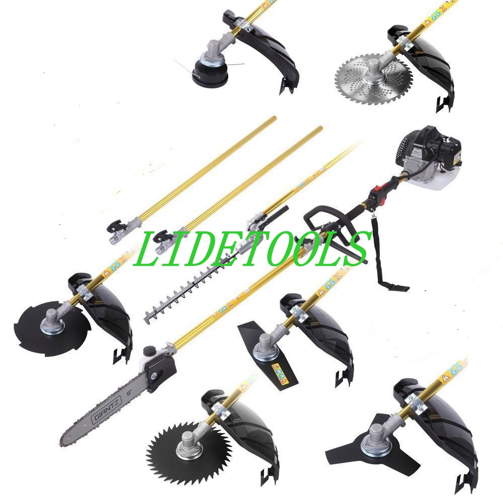 New Model9 In 1 Multi  Grass  Trimmer,brush Cutter,pole Hedge Trimmer,pole Chain Saws With Bonus Extension Poles
