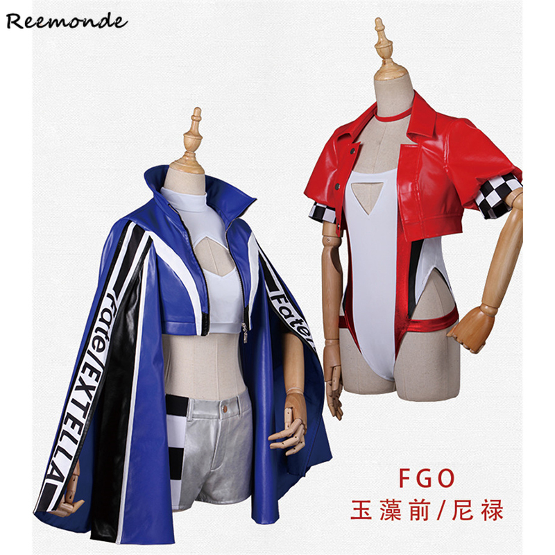 Fate/Extra CCC FGO Nero Cosplay Costume Fate/Grand Order Tamamo no Mae Jacket Shorts Racing Suits Uniform For Women Girl Clothes