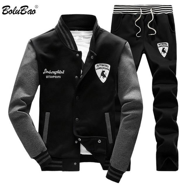 c29fddae BOLUBAO Для мужчин s спортивной костюм Элитный бренд Для мужчин спортивные  костюмы Зимние теплые спортивные Для