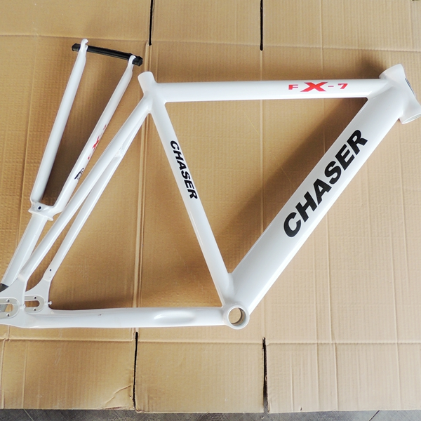 last 2 stock! cool price! Bicycle aluminum alloy frame 28.6 52cm fork gelatin seamless space fixed gear TT frame with fork aluminum alloy bicycle cnc front fork washer golden 28 6mm