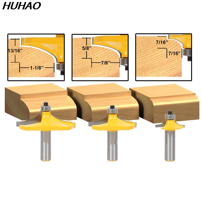 3pcs/set Bit Table Edge Thumbnail Router Bit Set - 1/2 Shank бампер edge 2 set abs