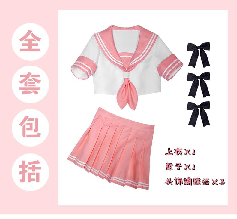 Astolfo FGO cosplay Fate/Apocrypha cosplay costume FATE GO JK uniform Sailor suit crop top skirt vestidos 2