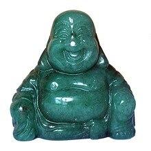 Natural stone crystals figurine  feng shui home decor Happy Buddha buda statue decoration accessories miniature figurines