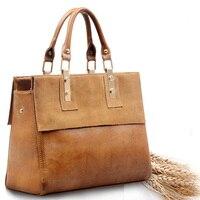 Của phụ nữ túi xách Vintage bags đối với năm 2016 phụ nữ túi messenger túi xách da với lớp Đầu Tiên của chất liệu da