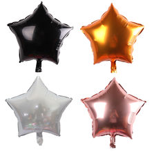 Black Silver Rose Gold Orange Pentagram balloon Wedding Birthday Party Decoration Globos Children Toy Gifts(China)