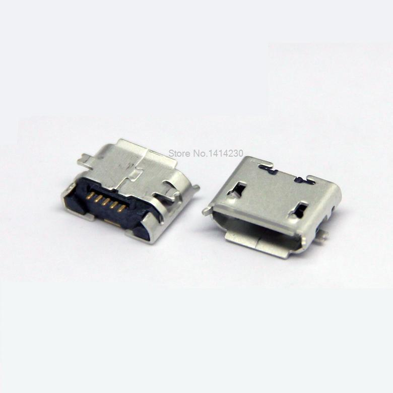 100Pcs <font><b>Micro</b></font> <font><b>USB</b></font> Type B Female 5Pin SMT Socket Jack Connectors Port <font><b>PCB</b></font> Board 5Pins <font><b>Micro</b></font> <font><b>USB</b></font> <font><b>Connector</b></font> Tail Charging socket image