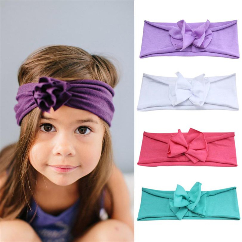 Alert 100% Brand Hot Fashion Baby Kids Girls Rabbit Bow Ear Hairband Headband Turban Knot Head Wraps Turbantes De Encaje #