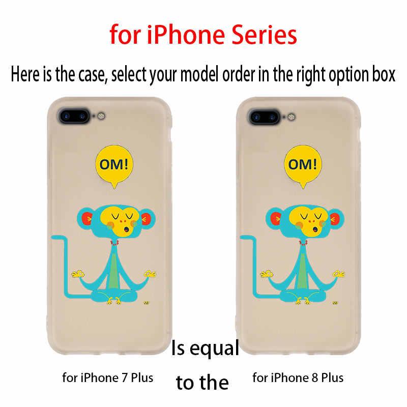 MLLSE милый медведь Обезьяна силиконовый чехол для iPhone совместимый 10 X XS Max XR для iPhone 5 5S SE 6 S 6 4 4s 7 8 Plus