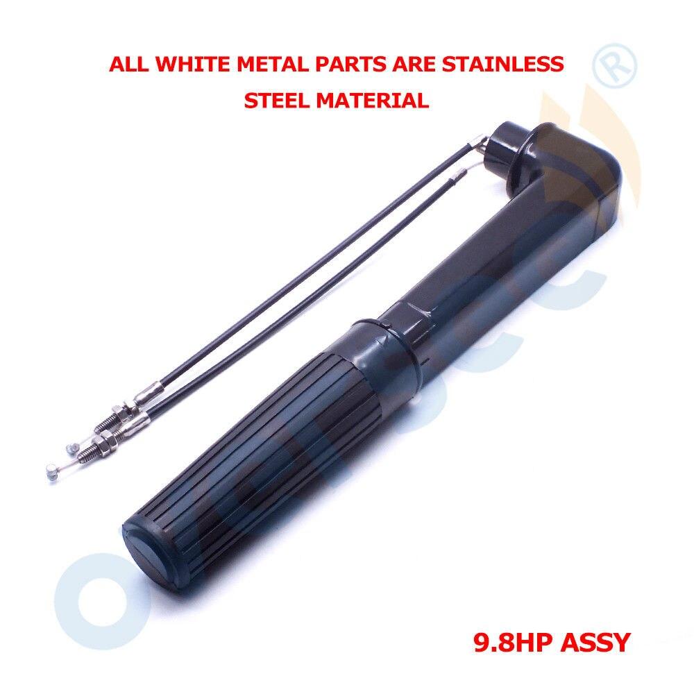 3B2S63010 0 2 Punho Assy Para Nissan Motor De Popa Tohatsu Motor De Popa Acidente Vascular Cerebral M8B M9.8B Motor do barco     - title=