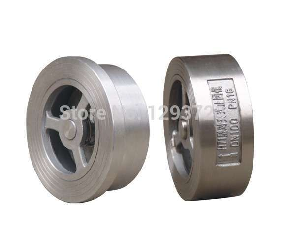 ФОТО DN40 h71w 10p,  stainless steel double disc dual disc wafer check valve