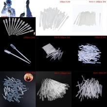 100 шт. 0,2/0,5/1/3/4 мл пипетки Пластик одноразовые Градуированные пипетки Пастера флакон-капельница из полиэтилена, инструменты для макияжа, лабораторные инструменты