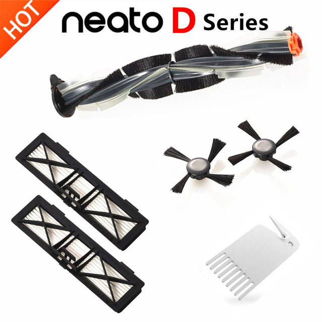 Replacement Neato Botvac Filter Brush Kits, Compatible with Parts for Neato Botvac Series D75 D80 D85, 70e 75 80 85