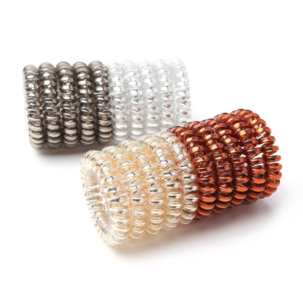Top selling Elastic Hair Bands Girls Hair Accessories Rubber Band   Headwear   Hair Rope Spiral Shape Hair Ties Gum Telephone Wire