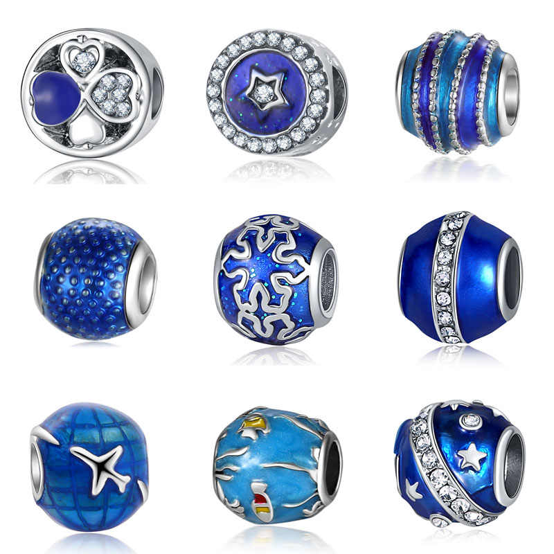 fit  Stars and moon beads jewelry bijoux bracciale bisuteria french bead silver perfumes mujer originales bracelet charms