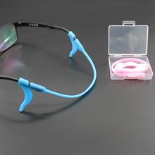 Unisex glasses accessories silicone elastic anti-skid rope ear hook set legs fix