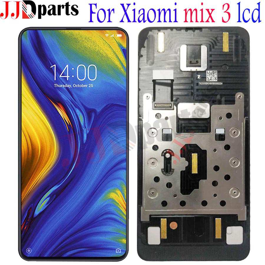 AMOLED For Xiaomi Mi Mix 3 LCD Display Touch Screen Digitizer Assembly With Frame Mi Mix3