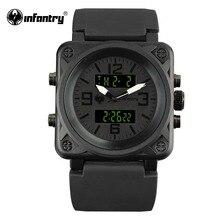 Армейские часы для мужчин с квадратным ремешком, тактические мужские часы, роскошные часы от ведущего бренда, светодиодный цифровой армейские черные часы для мужчин, мужские часы