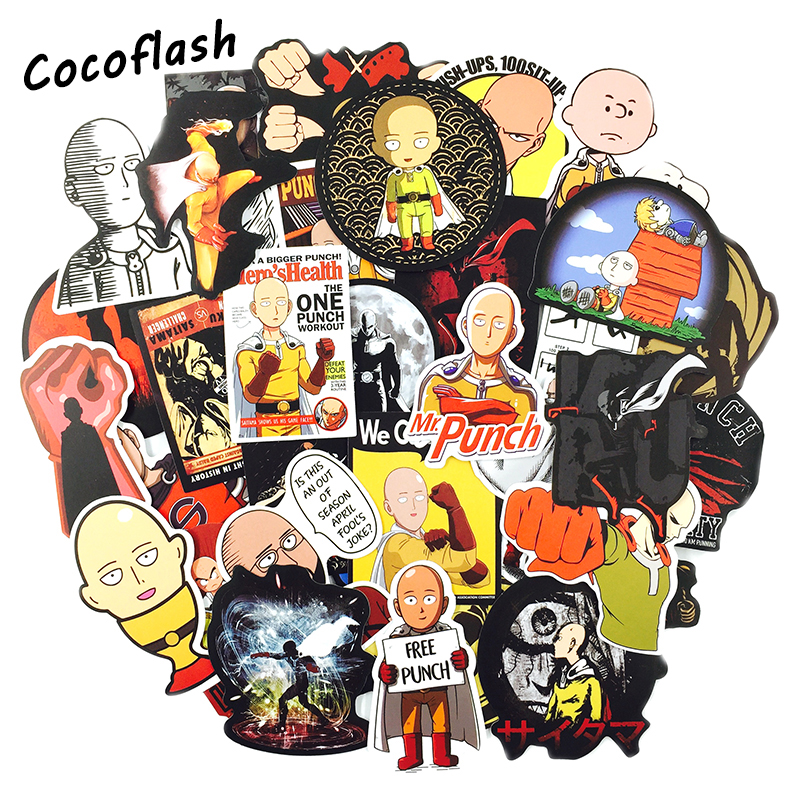 70pcs/lot Blood Anime ONE PUNCH-MAN Graffiti Sticker Personality Style Suitcase Laptop Skateboard Diy Toy Stickers For Gifts