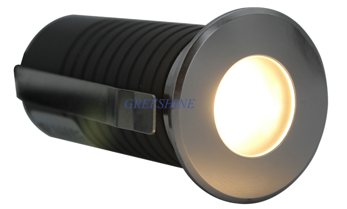 IP67 24V 1W 2W LED Stair Light Mini Inground Light Dimmable Landscape Lighting Underground Uplighting 24pcs/lot DHL Freeshipping