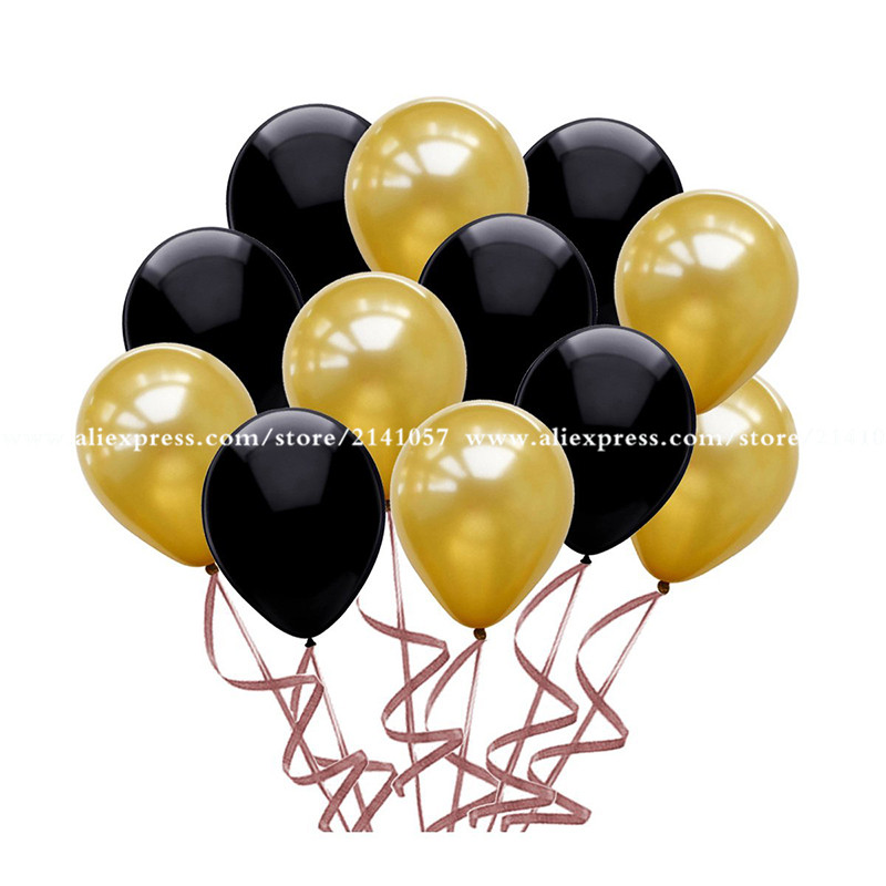 """Black Latex Balloons 12/"""" Back To School Pack of 10"""