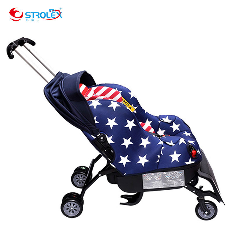 Sit on Stroll 2 In 1 Baby Car Seat Stroller Child Safety Seat Baby Car Booster Seat 0-4 Years Old Baby Sleeper Trolley Car Seat