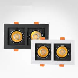 Белый черный светодиодный круглая лампа квадратная Потолочная люстра AC85-265V 10 W 20 W алюминиевый сплав Точечный светильник для крепления