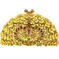 Animal-Shaped Gold Clutch Evening Bags Double Phoenix Pattern Golden Crystal Clutch Sparkly Make Clutches for Weddings Day