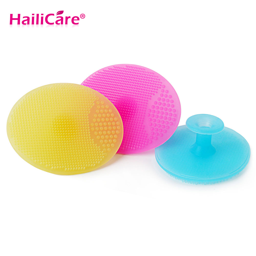 Hailicare Face Cleanser Facial Exfoliating Brush Infant Baby Soft Silicone  Wash Face Cleaning Pad Skin Spa