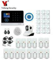 Yobang Security APP House Intruder Security Alarm System Metal Remote Controller+Wifi IP Camera Smart Home alarm Smoke Detector