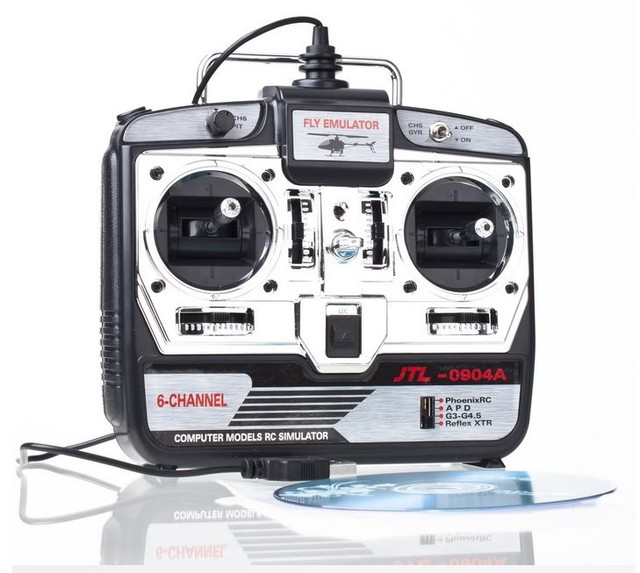 RC Helicopter Airplane Flight Simulator FMS 6CH USB 3D +free shipping