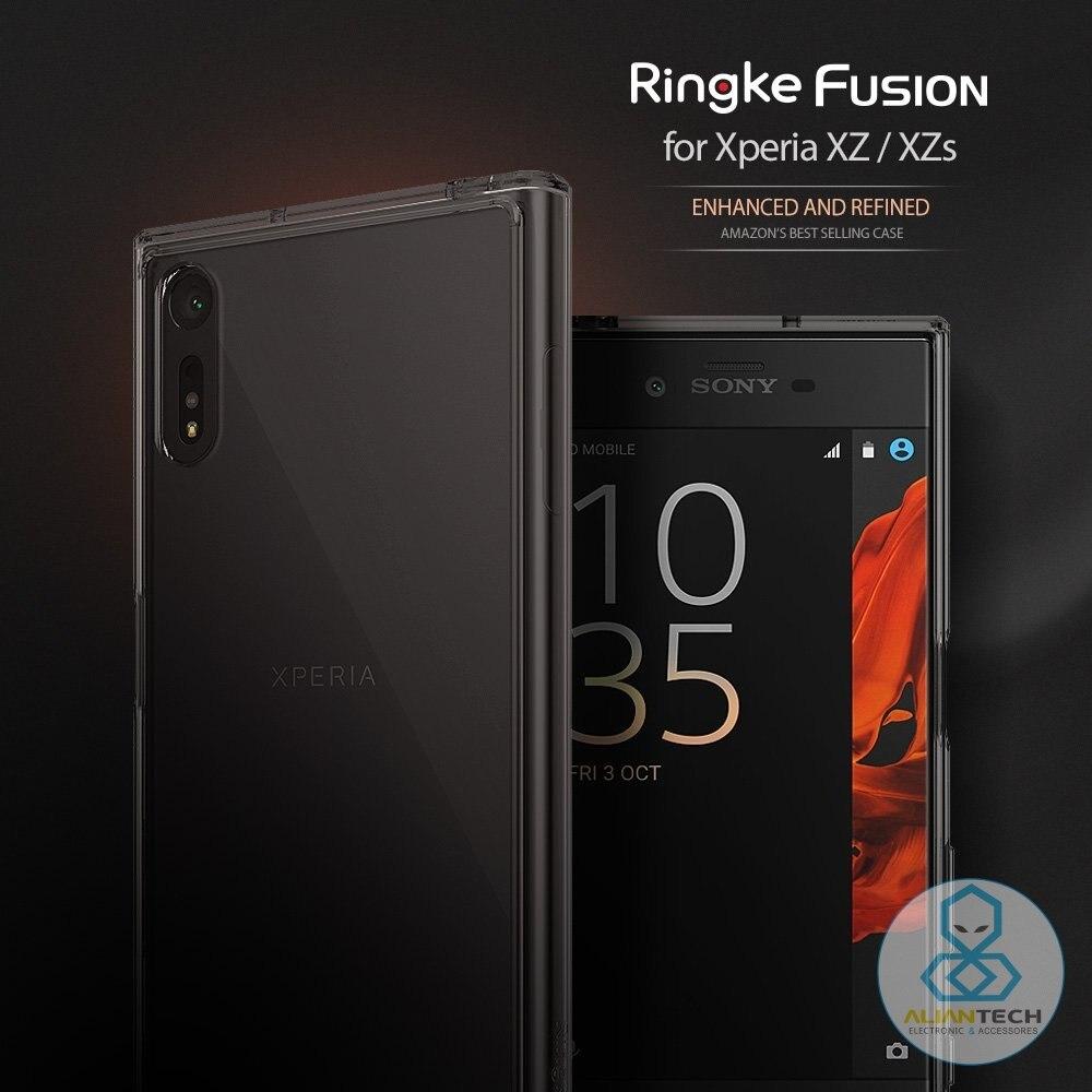 Ringke Fusion Cas pour Sony Xperia XZ/XZs-Crystal Clear PC Retour + TPU Bord Hybride Cas MIL-STD Baisse De Qualité Protection Cas
