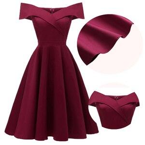 Dressv عنابي كوكتيل اللباس رخيصة قبالة الكتف قصيرة الأكمام التخرج حزب اللباس الأزياء الأنيقة كوكتيل اللباس