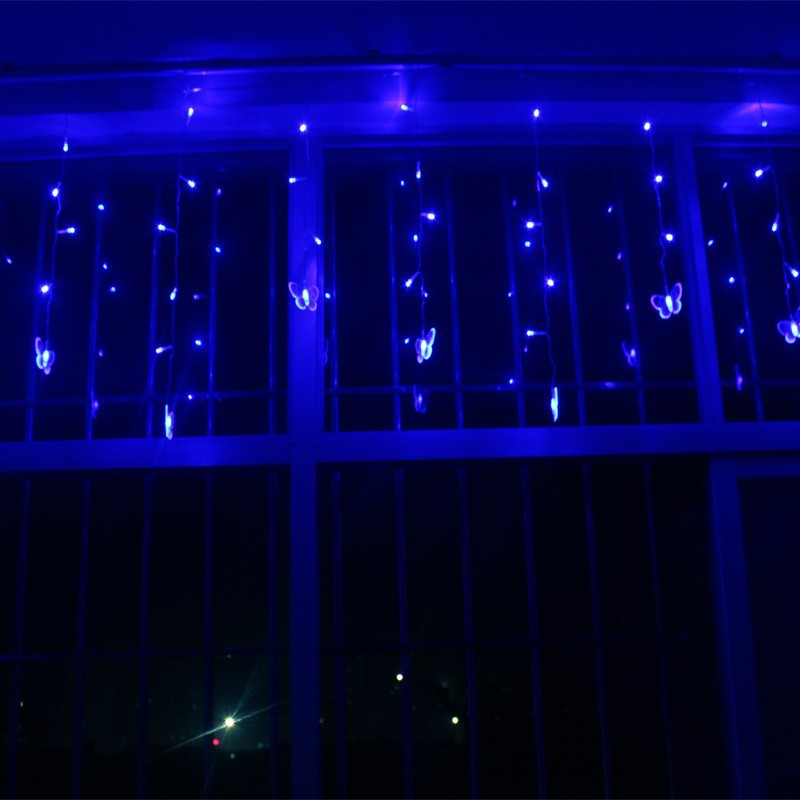 LED fairy lights Butterfly Curtain Garland string lights christmas lights new year holid ...